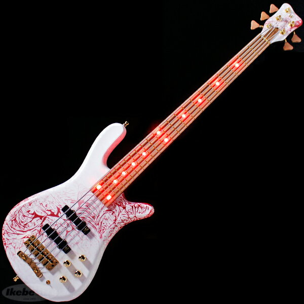 """Warwick Custom Shop Streamer LX 5st """"Special Storm Galaxy White on Red/Red LED/Matching Head"""" (#D162883-18)【Factory Order Model 豪華特典!】"""