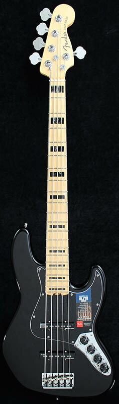 Fender American Elite Jazz Bass V (Black/Maple) [Made In USA] 【大幅プライスダウン!】 【ポイント5倍】