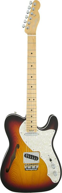 "Fender American Elite Telecaster Thinline (3-Color Sunburst/Maple) [Made In USA] 【大幅プライスダウン!】 【フェンダー""Fシリーズ""ギグバッグプレゼント!】 【ポイント5倍】"