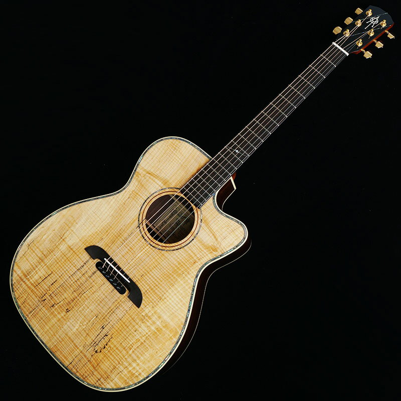 """K.Yairi IKEBE Original Order ALVAREZ WY1 Custom Select Exotic Wood """"Spalted Flame Maple"""" 【今なら皮製ストラップ・ピックプレゼント】"""