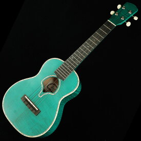 """Leilani Concert Curly Maple Green """"Shell Soundhole"""""""