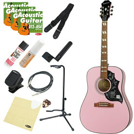 Epiphone by Gibson Limited Edition Hummingbird PRO (PK) アコギ入門デラックスセット 【数量限定エピフォン・アクセサリーパック・プレゼント】