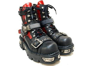 NEWROCKニューロックメンズブーツ*M-258-C2 BLK/RED