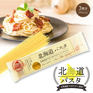 北海道パスタ270g(単品) 1.6mm スパゲッティ 北海道産小麦使用 赤城食品