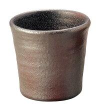 陶器風アルミ食器「ひえーるタンブラー(黒柿釉)」