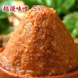 越後味噌 5kg 辛口みそ 赤みそ 麹みそ 粒みそ 食品 調味料 みそ 米みそ