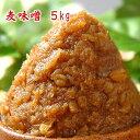 麦味噌 5kg 無添加 甘みそ 麦麹みそ 赤みそ 粒みそ 九州 長崎県産 食品 調味料 みそ 麦みそ