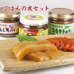 食べる調味料シリーズ ごはんの友セット 大葉味噌 青唐辛子味噌 梅しそ味噌 生姜の味噌漬け 奈良漬け(粕漬け)