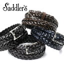 サドラーズ Saddler's/ 手編みレザーメッシュベルト「G256」(4 colors)ベルト レザー 革 イタリア製 【ラッピング…