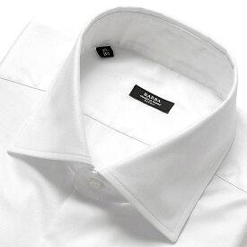 【ポイント10倍】バルバ BARBA / 【国内正規品】 19-20AW!コットンピンポイントオックスフォードセミワイドカラーシャツ「MILANO」(ホワイト)/ メンズ イタリア ナポリ ドレスシャツ ワイシャツ オールシーズン 無地 ビジネス