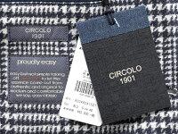 チルコロ1901CIRCOLO1901/【国内正規品】製品洗いコットンストレッチ裏起毛ジャージーグレンチェック2Bジャケット「CN2410」