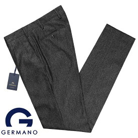 ジェルマーノ GERMANO / 19-20AW!Super100'sウールフランネル1プリーツパンツ「321G-7617」(チャコールグレー)【ハンガー便選択OK】/ 秋冬 メンズ イタリア ボトムス スラックス トラウザーズ ビジネス