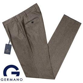 ジェルマーノ GERMANO / 19-20AW!Super100'sウールフランネル1プリーツパンツ「321G-7617」(グレイッシュブラウン)【ハンガー便選択OK】/ 秋冬 メンズ イタリア ボトムス スラックス トラウザーズ ビジネス