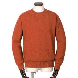 ジャミーソンズ Jamieson's / シェトランドウールミドルゲージクルーネックニット「MK838C」(テラコッタ)/ 秋冬 メンズ イギリス スコットンランド セーター 無地 草木染め