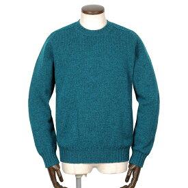 ジャミーソンズ Jamieson's / シェトランドウールミドルゲージクルーネックニット「MK838C」(ターコイズ)/ 秋冬 メンズ イギリス スコットンランド セーター 無地 草木染め