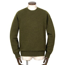 ジャミーソンズ Jamieson's / シェトランドウールミドルゲージクルーネックニット「MK838C」(オリーブ)/ 秋冬 メンズ イギリス スコットンランド セーター 無地 草木染め