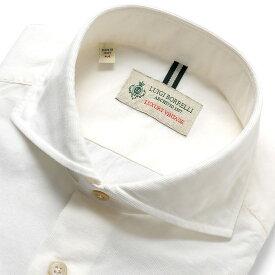 ルイジボレッリ ルイジボレリ LUIGI BORRELLI / 19-20AW!製品洗いコットン極細畝コーデュロイホリゾンタルカラーシャツ「NA35(8506)」(ホワイト) / あす楽非対応 秋冬 メンズ イタリア カジュアルシャツ ワイシャツ コーデュロイシャツ