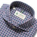 ルイジボレッリ ルイジボレリ LUIGI BORRELLI / 製品洗いコットンライトフランネルチェックホリゾンタルカラーシャツ…