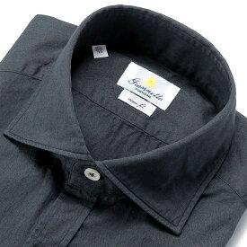 【ポイント10倍】【SALE/返品・交換不可】ジャンネット Giannetto / 【国内正規品】 / 20-21AW!製品洗いコットンツイルワイドカラーシャツ「81(VINCI FIT)」(ダークネイビー)/ オールシーズン メンズ イタリア カジュアルシャツ 無地