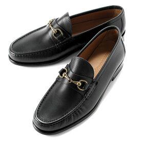 イルモカシーノ IL MOCASSINO / 【国内正規品】 / 20-21AW!アニリンカーフビットローファー(レザーソール)「B-REVERSO/MGO」(NERO/ブラック)/ メンズ イタリア 靴 革靴 レザーシューズ ビットモカシン スリッポン Vibram MORFLEX