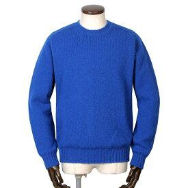 ジャミーソンズ Jamieson's / シェトランドウールミドルゲージクルーネックニット「MK838C」(ブルー)/ 秋冬 メンズ イギリス スコットンランド セーター 無地 草木染め