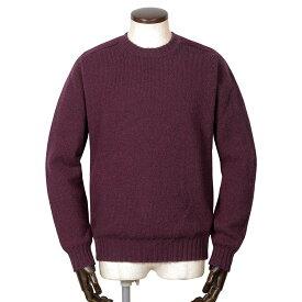 ジャミーソンズ Jamieson's / シェトランドウールミドルゲージクルーネックニット「MK838C」(ダークパープル)/ 秋冬 メンズ イギリス スコットンランド セーター 無地 草木染め