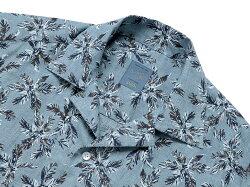 バルバダンディライフBARBADANDYLIFE/【国内正規品】リネンポプリンフラワープリント半袖オープンカラーシャツ「PBOVER」