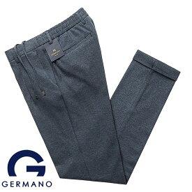【SALE】ジェルマーノ GERMANO / コットンダブルフェイスジャージー1プリーツドローコードパンツ「323G-8815」(インディゴブルー)【ハンガー便選択OK】/ 春夏 メンズ イタリア ボトムス ジャージーパンツ 無地
