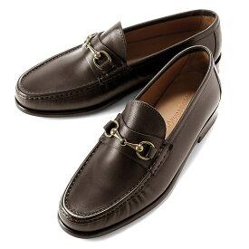 イルモカシーノ IL MOCASSINO / 【国内正規品】 / 20SS!アニリンカーフビットローファー「B-REVERSO/MGO」(T.MORO/ダークブラウン)/ メンズ イタリア 靴 革靴 レザーシューズ ビットモカシン スリッポン
