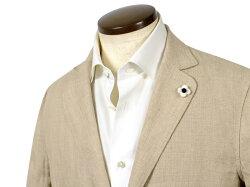 ラルディーニLARDINI/【国内正規品】製品洗いリネンパナマ2Bシャツジャケット「AMA」