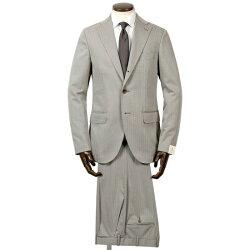 ルイジボレッリルイジボレリLUIGIBORRELLIウールコットンソラーロヘリンボーン3Bスーツ「PROCIDA」