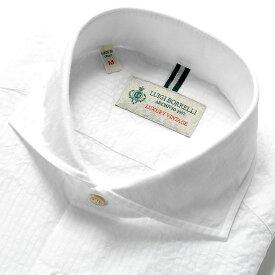 ルイジボレッリ ルイジボレリ LUIGI BORRELLI / 20SS!製品洗いコットンシアサッカーストライプホリゾンタルカラーシャツ「NA35(9013)」(ホワイト)/ あす楽非対応 イタリア カジュアルシャツ メンズ 綿 ストライプ