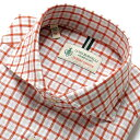 【SALE】ルイジボレッリ ルイジボレリ LUIGI BORRELLI / 製品洗いリネンコットンポプリンチェックホリゾンタルカラー…