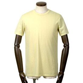 【FINAL SALE/返品・交換不可】マジェスティック フィラチュール MAJESTIC FILATURES / 20SS!シルクタッチコットン天竺半袖クルーネックカットソー「M537-HTS022」(LEMON/パステルイエロー)/ メンズ フランス Tシャツ ティーシャツ ジャージー