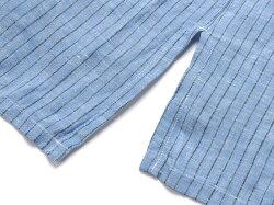 マリオムスカリエッロMarioMuscariello/【国内正規品】製品洗いリネンポプリンストライプカプリシャツ「CAPRI3/4WASHED」