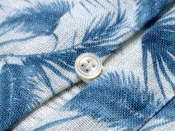マリオムスカリエッロMarioMuscariello/【国内正規品】製品洗いリネンポプリンボタニカル柄カプリシャツ「CAPRI3/4WASHED」