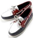 【SALE】セバゴ SEBAGO / 【国内正規品】 / レザーデッキシューズ「PORTLAND」(NAVY×RED×WHITE/ネイビー×レッド×ホワイト)/ メンズ 靴 革靴 レザーシューズ モカ