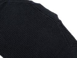 サンモリッツS.MORITZドライコットンミドルゲージリブ編みボーダークルーネックニット「X28131」