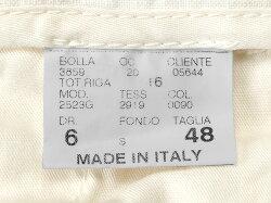 ジェルマーノGERMANO製品染めリネンポプリン1プリーツドローコードパンツ「523G-2919」