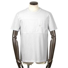 ヘルノ HERNO / 【国内正規品】 / 21SS!GORE-TEX切り替えコットン半袖クルーネックカットソー「JG002UL(Laminar)」(ホワイト)/ 春夏 メンズ ラミナー Tシャツ ティーシャツ 胸ポケット ゴアテックス