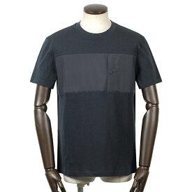 ヘルノ HERNO / 【国内正規品】 / 21SS!GORE-TEX切り替えコットン半袖クルーネックカットソー「JG002UL(Laminar)」(ネイビー)/ 春夏 メンズ ラミナー Tシャツ ティーシャツ 胸ポケット ゴアテックス