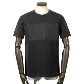 ヘルノ HERNO / 【国内正規品】 / 21SS!GORE-TEX切り替えコットン半袖クルーネックカットソー「JG002UL(Laminar)」(ブラック)/ 春夏 メンズ ラミナー Tシャツ ティーシャツ 胸ポケット ゴアテックス