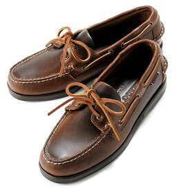 セバゴ SEBAGO / 【国内正規品】 / ワックスレザーデッキシューズ「PORTLAND WAXED」(BROWN/ブラウン)/ メンズ 靴 革靴 レザーシューズ モカシン アメリカ ドッグサイド ポートランド