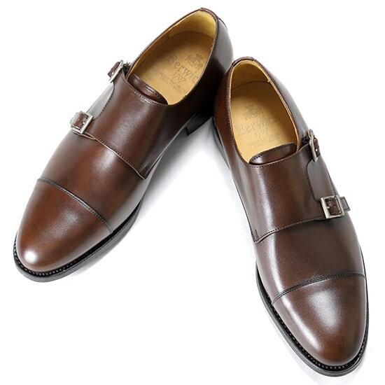 バーウィック Berwick1707 / アニリンカーフダブルモンクストラップシューズ『3637』(598 / ブラウン)バーウィック 靴 シューズ ダブル モンク 茶 メンズ ブランド