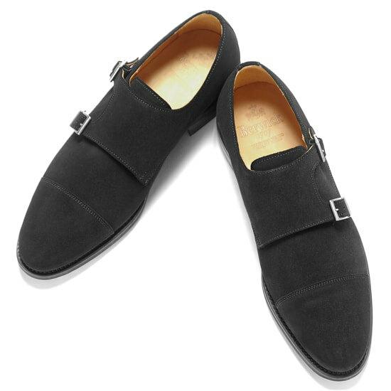 バーウィック Berwick1707 / スエードダブルモンクストラップシューズ『3637』(NEGRO / ブラック)バーウィック 靴 シューズ ダブル モンク 黒 メンズ ブランド