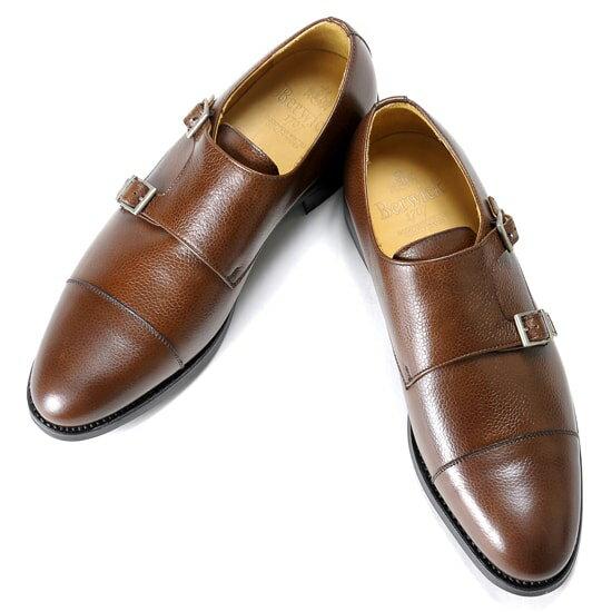 バーウィック Berwick1707 / スコッチグレインレザーダブルモンクストラップシューズ『3637』(NIGER / ブラウン)バーウィック 靴 シューズ ダブル モンク 茶 メンズ ブランド