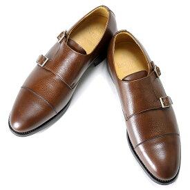 バーウィック Berwick1707 / スコッチグレインレザーダブルモンクストラップシューズ「3637」(NIGER/ ブラウン )/ 靴 シューズ ダブルモンク 茶 ダブルモンク ダイナイトソール 革靴 ビジネス カジュアル
