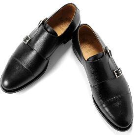 バーウィック Berwick1707 / アルパインカーフダブルモンクストラップシューズ『3637』(BLACK/ブラック) | 靴 シューズ ダブルモンク 黒 ダイナイトソール ストレートチップ 革靴 ビジネス カジュアル レザーシューズ メンズ