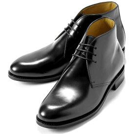 バーウィック Berwick1707 / バインダーカーフチャッカブーツ「320」(NEGRO/ ブラック )/ 靴 シューズ チャッカ ブーツ 黒 カーフ メンズ チャッカーブーツ コードバン コードヴァン ビジネス ショートブーツ