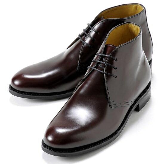 バーウィック Berwick1707 / バインダーカーフチャッカブーツ『320』(BURDEOS / バーガンディ)バーウィック 靴 シューズ チャッカ ブーツ 茶 メンズ ブランド